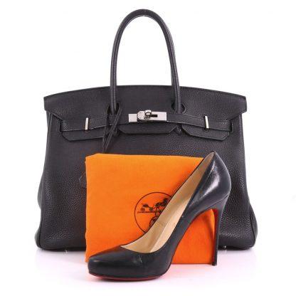 71618daff20f Hermes Replica Birkin Handbag Noir Togo with Palladium Hardware 35 ...