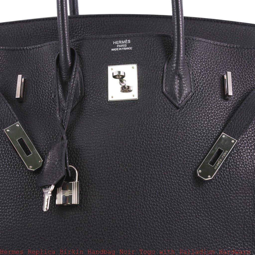 Hermes Replica Birkin Handbag Noir Togo with Palladium Hardware 35 ... cc4c0dce51d51